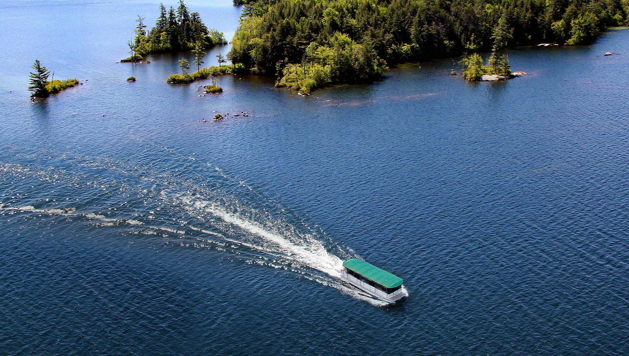 Squam Lake Cruise from the air