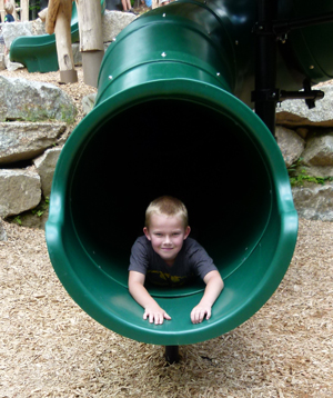 Gordon Interactive Playscape - child on slide