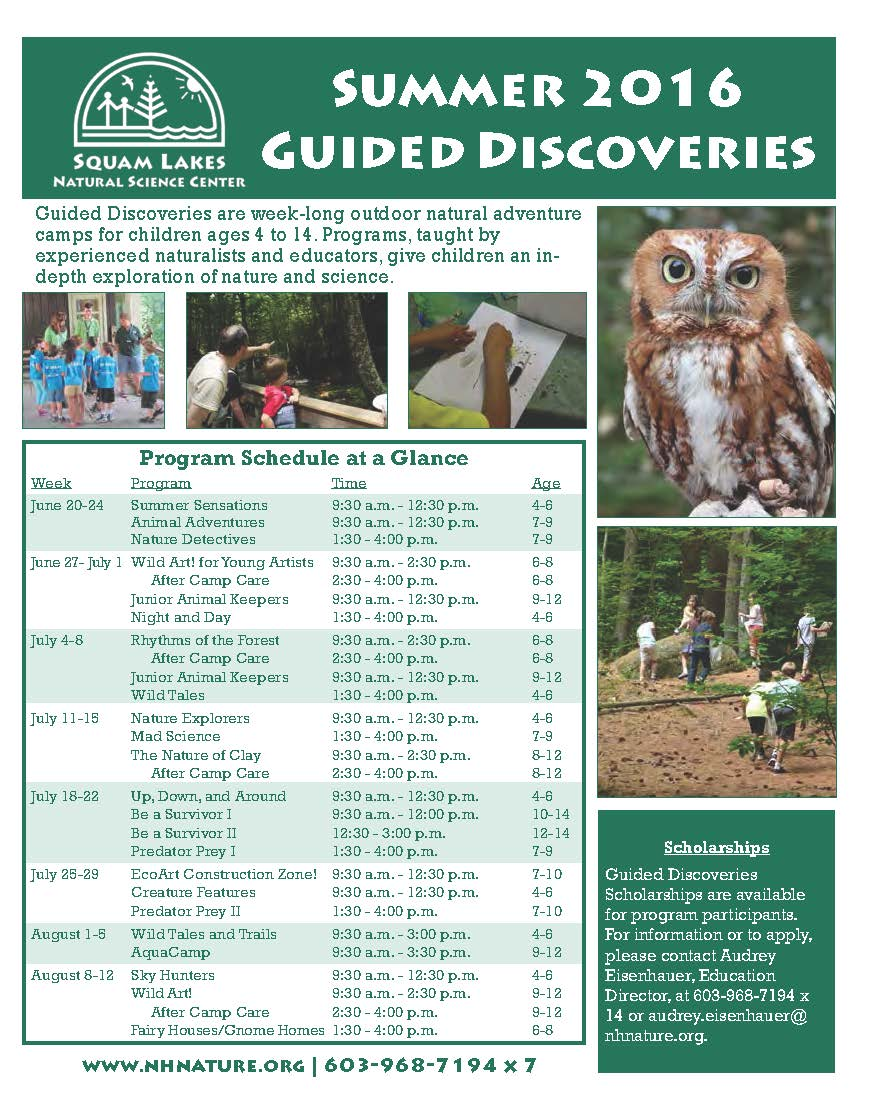 2016 Guided Discoveries