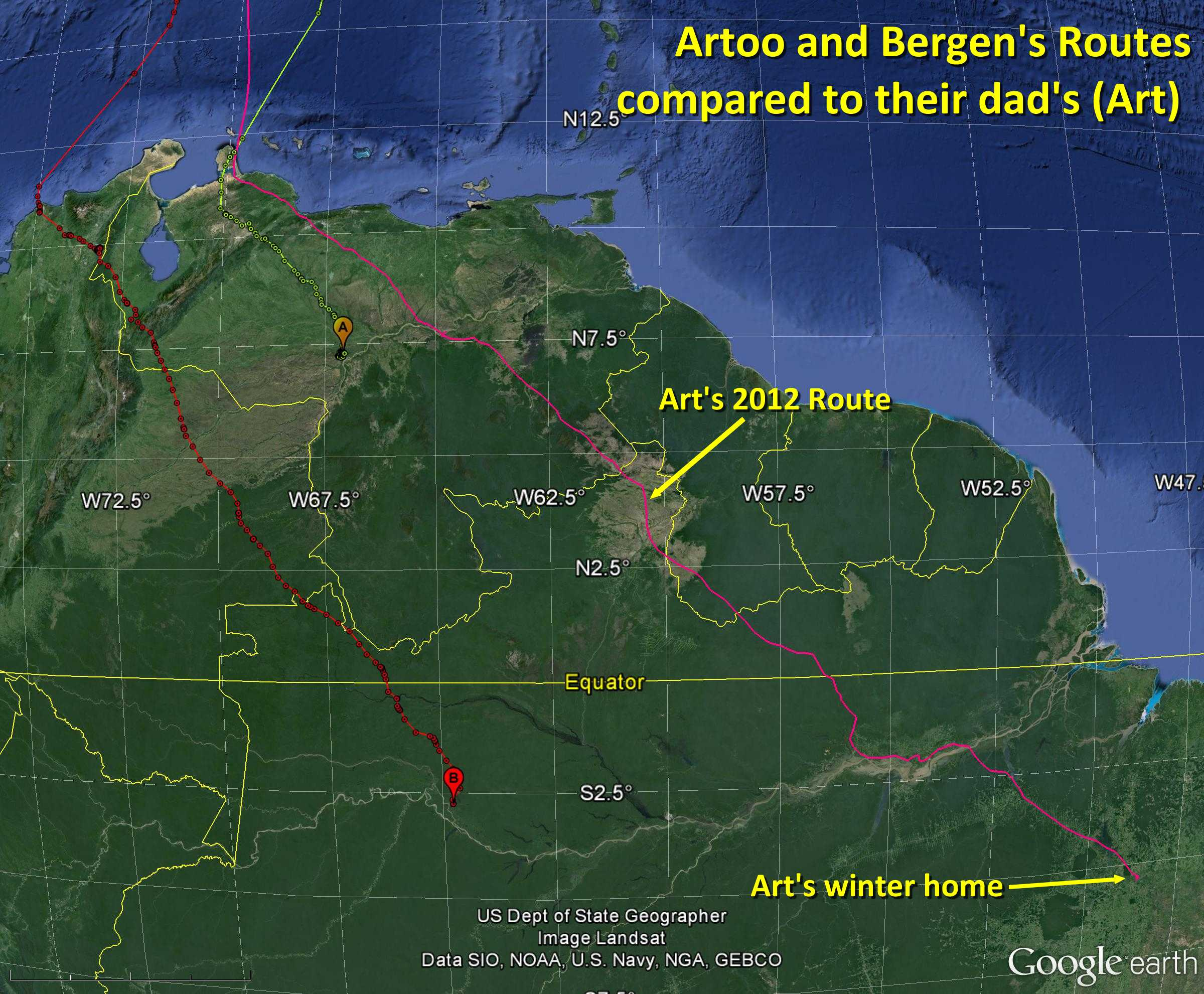 Artoo and Bergen, and Art's Route - November 8, 2013