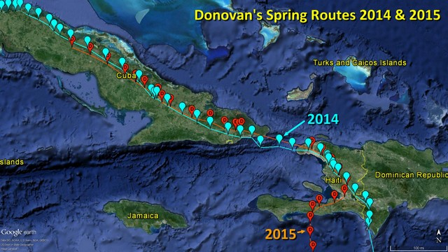 Donovan - Spring Migration Comparison