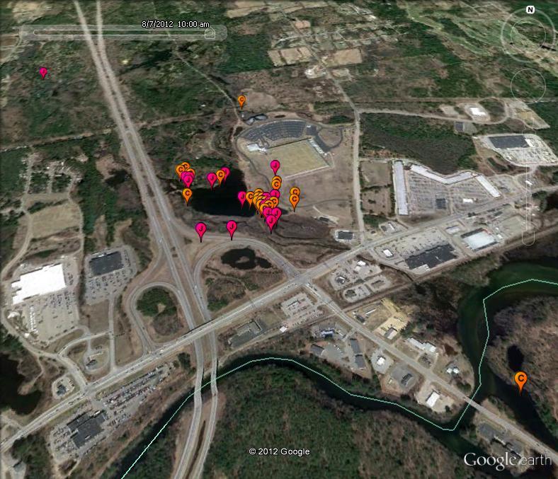 Project ospreytrack chip map squam lakes natural for 7194 garden pond