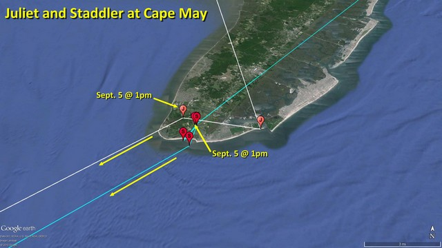 Juliet and Staddler at Cape May - September 9, 2015