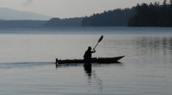 Kayaker on Squam Lake