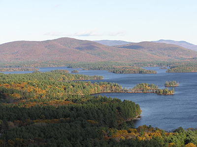 Squam Lake during fall